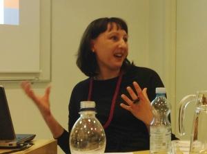 Dr Rebecca Coleman presenting at Rethinking Economies.