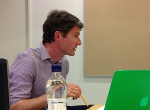 Dr Derek McCormack presenting at Rethinking Economies