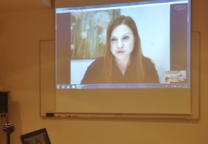 Kori Allan presenting via skype from Toronto