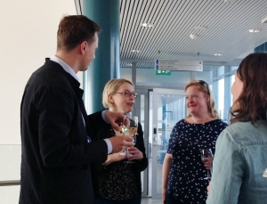 Lena Näre (2nd left) with Turo-Kimmo Lehtonen, Elina Paju and Lotta Haikkola.